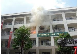 Giải pháp phòng chống cháy nổ trong tường học an toàn, phổ dụng